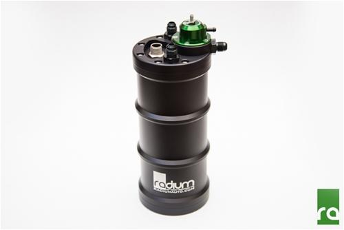 Radium Fuel Surge Tank w/ Aem 50-1200 E85 Pump