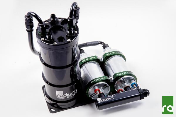 Radium Fuel Surge Tank (for Dual External Aem 50-1005, Vertical Pumps)