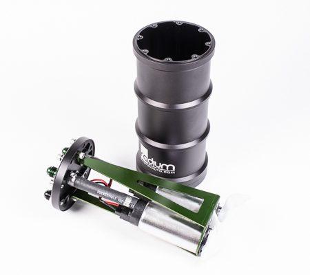 Radium Fuel Surge Tank w/ Dual Aem 50-1200 E85 Pumps