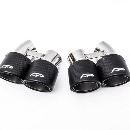 Agency Power Carbon Fiber Quad GT2 Angle Style Exhaust Tips Porsche 991 Turbo 14-15