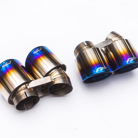 Agency Power Titanium Quad GT2 Angle Style Exhaust Tips Porsche 991 Turbo | Turbo S 14-16