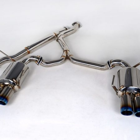 Agency Power Catback Exhaust System Titanium Quad Tips Subaru WRX STi Sedan 11-15