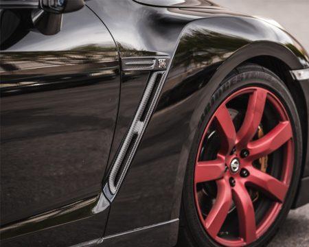 Agency Power Carbon Fiber Front Fender Logo Plate Nissan R35 GTR 09-15