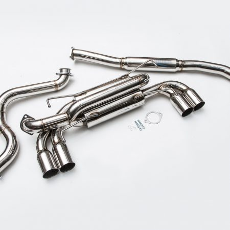 Agency Power Stainless Steel Catback Exhaust System Quad SS Tips 08 STI+ Hatch