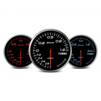 Defi Advance BF Series (Metric) 60mm turbo set 200kpa gauge - white
