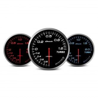 Defi Advance BF Series (Metric) 60mm turbo set 200kpa gauge - red