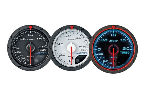 Defi Advance CR Series 60mm water temp gauge - white