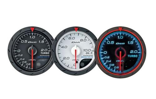 Defi Advance CR Series 60mm manifold press gauge - black