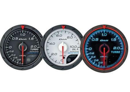Defi Advance CR Series 60mm fuel press gauge - white
