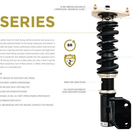 BC Racing BR Type Coilover for 89-94 Nissan 240SX S13 - (D-12)