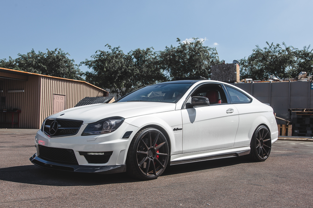 agency power carbon fiber front lip mercedes