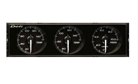 Defi DIN Gauge - black dial - white illumination