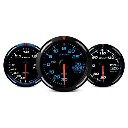 Defi Racer Series 80mm 9000rpm tacho gauge - blue