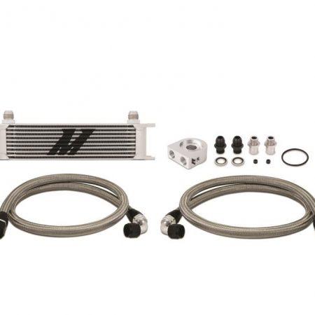 Mishimoto Universal Thermostatic 19 Row Oil Cooler Kit, Black