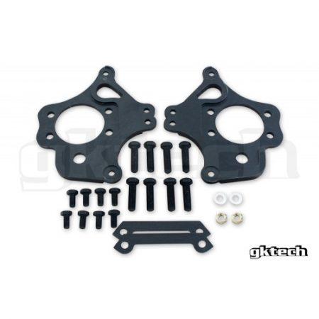 GKTech 2 pot Nissan dual caliper brackets (pair)