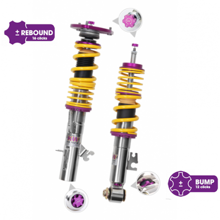 KW Clubsport 2 way Coilovers - BMW 2 Series F22 Coupe 2WD wo/ EDC