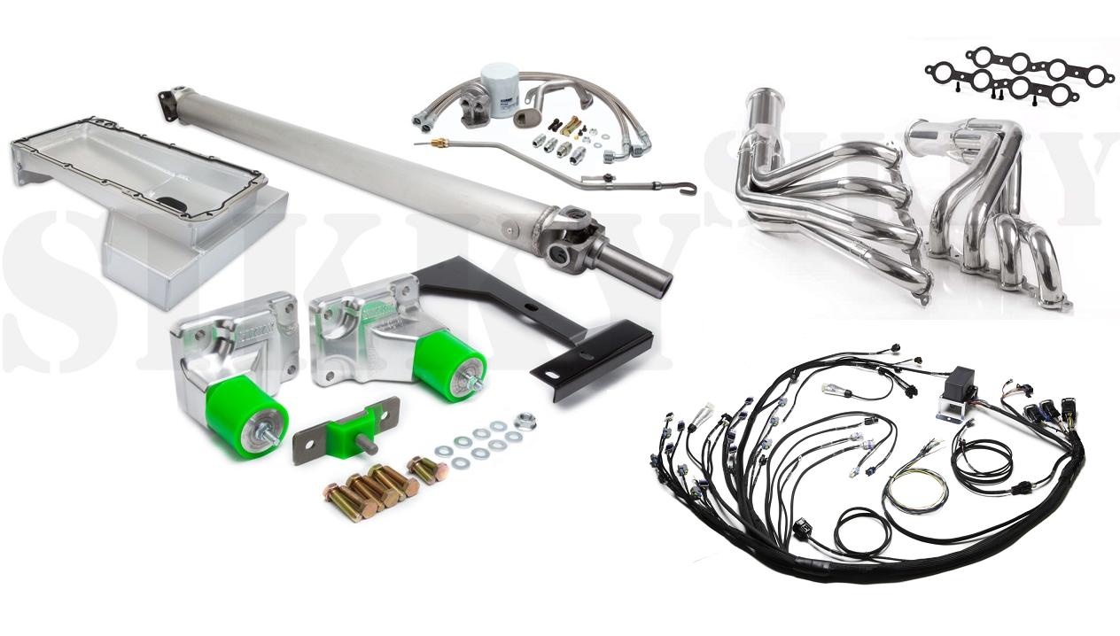 Sikky Stage 3 Nissan 240sx S13 Swap Kit w/ LS2 DBW Wiring Harness on